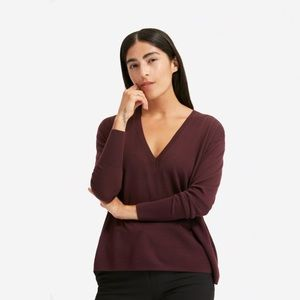 Everlane luxe wool square v neck